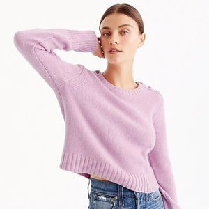 J. Crew Everyday Cashmere Cropped Sweater 🌸